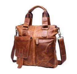 Retro Look Genuine Leather Women Tote Bag