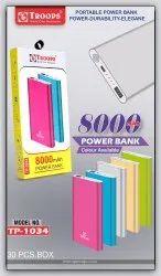 Troops Tp-1034 8000mah Slim Power Bank Metal