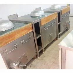 Rectangular Stainless Steel Gas Tandoor for Hotel