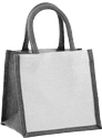 Tesco Grey Jute And Juco Gift Bag, Size: 30x30x15, Capacity: 5