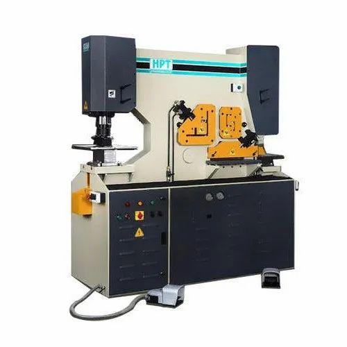 Semi Automatic HPT 5 In 1 Ironworker Machine Capacity 65 Ton