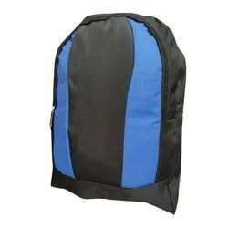 Black And Blue Polyester Fastrack School Backpack