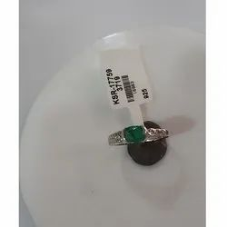 Green Oval Emerald Ring