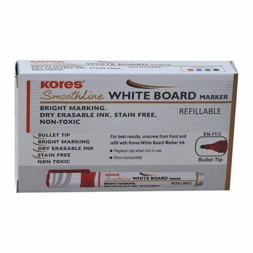 White Kores Refillable Whiteboard Marker