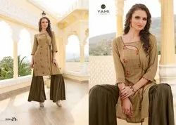 Yami Fashion Mallika Rayon Kurti With Sharara Collection Dealer