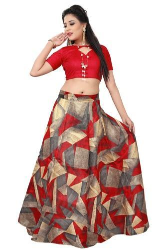 Banglori Satin Red Crop Top Lehenga Choli For Festival Rs 499 Piece Id 19931824962