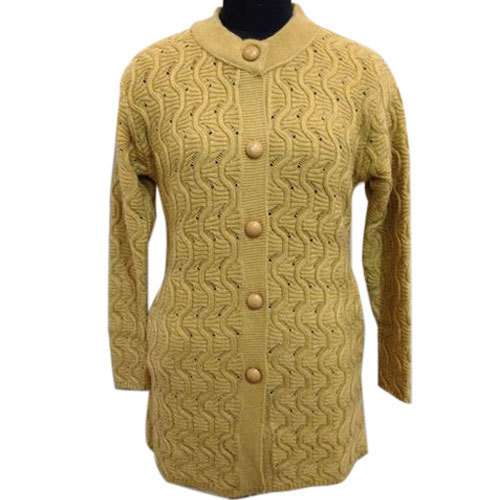 6636e1c1b Richeez Ladies Mustard Color Full Sleeve Cardigan