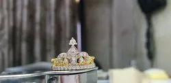 Women's Crown Gold Diamond Rings, Packaging Type: Box