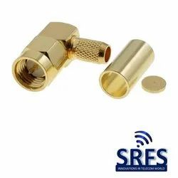 SMA Male Right Angle Crimp Connector for LMR 200