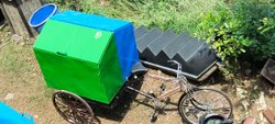 Tricycle Rickshaw Garbage Container / Rickshaw Ghanta Gadi