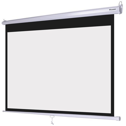 White Black Manual Pull Down Projection Screen Usage Indoor Type Outdoor Type Rs 9990 Piece Id 18592475033