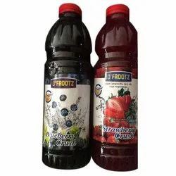 D Frootz Strawberry Fresh Fruit Crushes, Packaging Size: 1 Ltr