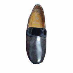 Rexine Black Designer Shoes, Size: 6 to 10