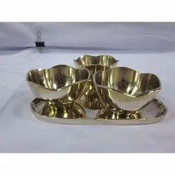 Kansa Ice Cream Cup Set, For Home