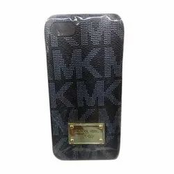 Leather Black Designer Mobile Cover, Size: 6 x 4 Inches