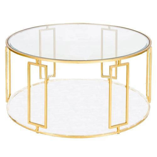Charmant Gold Art Deco Coffee Table
