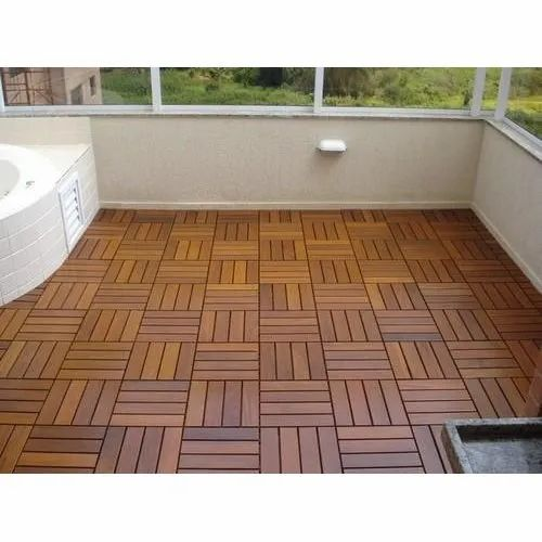 Brown WPC Terrace Flooring, For Outdoor, Woodland Interior | ID: 9915459930
