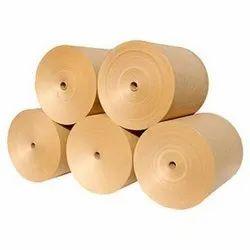 Plain 180 GSM Brown Kraft Paper Roll