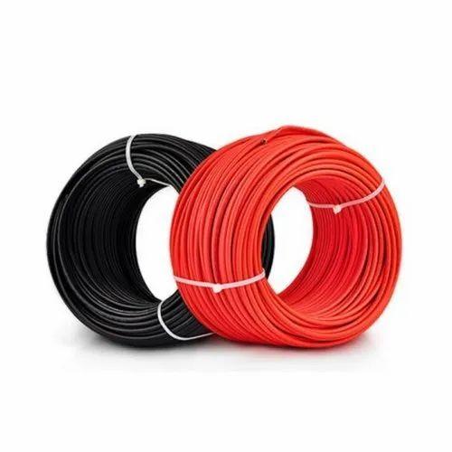 Voltage: 11000 Volt Red 6mm Solar Cable, Temperature Range: 180 Degree Celsius