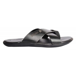 Black Daily Wear Men Slippers
