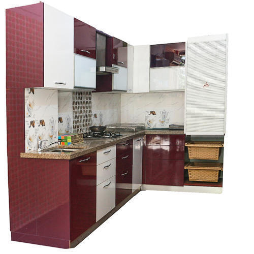 Stainless Steel Modular Kitchen Cabinets: Stainless Steel Designer Modular Kitchen, Warranty: 1 Year