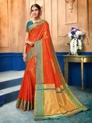Exclusive Designer Art Silk Weaving Saree With Blouse Piece,6.3mtr