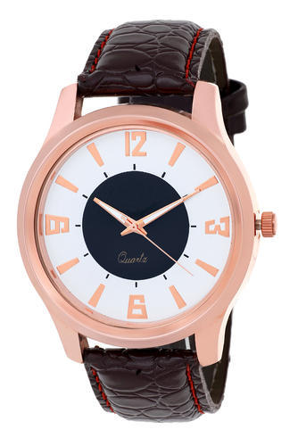 DCH White Brown Copper Case Wrist Watch,Model- IN-03