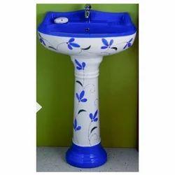Ceramic Printed Decorative Wash Basin, Packaging Type: Box
