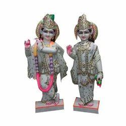 White Lord Marble Radha Krishna Statue