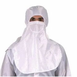 Polyester + Carbon Gridded Anti Static, Lint Free Cleaning Room Usage Hood