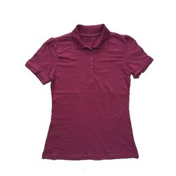 Half Sleeve Casual Wear Girls Polo Neck T-Shirt