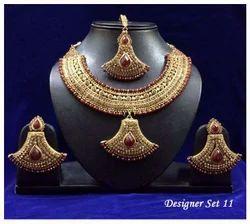 Designer Copper Finish Necklace Set
