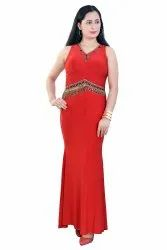 Pleated Underbust Stretched Gown