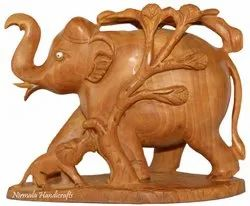 Wooden Tree Elephant Statue