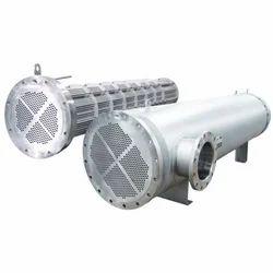 Steel Metallic Grey Shell and Tube Heat Exchanger