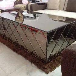 Plain Decorative Center Table Glass, For Door, Size: 7x4 Feet