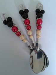 Colorful Beaded Cutlery Set