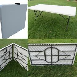 Folding Table - 150x75 Cm- Split Top