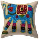 Patchwork Embroidered Cushion Cover