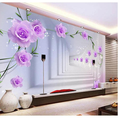 3d floral wallpaper home decor wholesale trader in ramkrishan 3d floral wallpaper voltagebd Image collections
