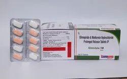 Glimepiride 1mg Metformin 500mg Sr (Blister Bilayer)