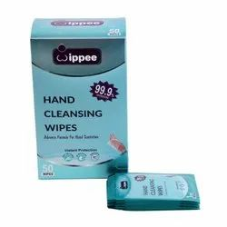 Wippee Hand Cleansing Wipes With 70% Isopropyl Alcohol, (50 Single Wipe Sachet Per Box)