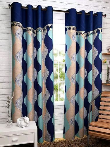 Chiffon And Georgette Pecs With Frill Curtains, Usage: Window, Door