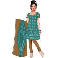Blue Bandhani Print Suit