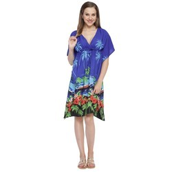 Palm Tree Printed Beachwear Kaftans