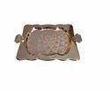 金属优质设计托盘,用于服务和装饰