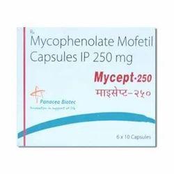 Panacea Biotec Mycophenolate Mofetil 250 Mg Capsule, Packaging Type: Strips