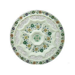 Stone Inlay Handcrafted Plate