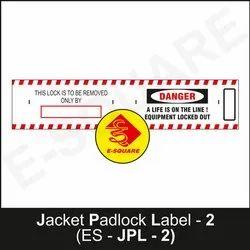 Jacket Padlock Label