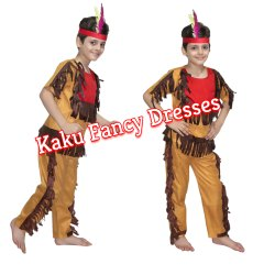 Kids Red Indian Fancy Dress Costume